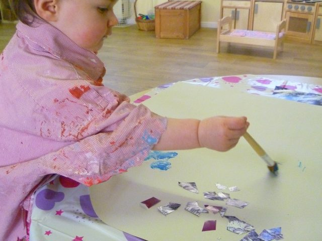 Painting with glitter