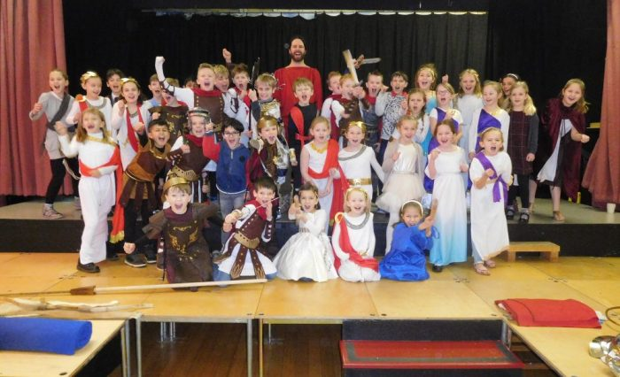 The Romans have arrived at Grace Dieu Manor School in Thringstone.