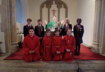 First Mass of term at Grace Dieu Manor School