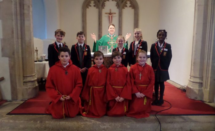 First Mass of term at Grace Dieu Manor School