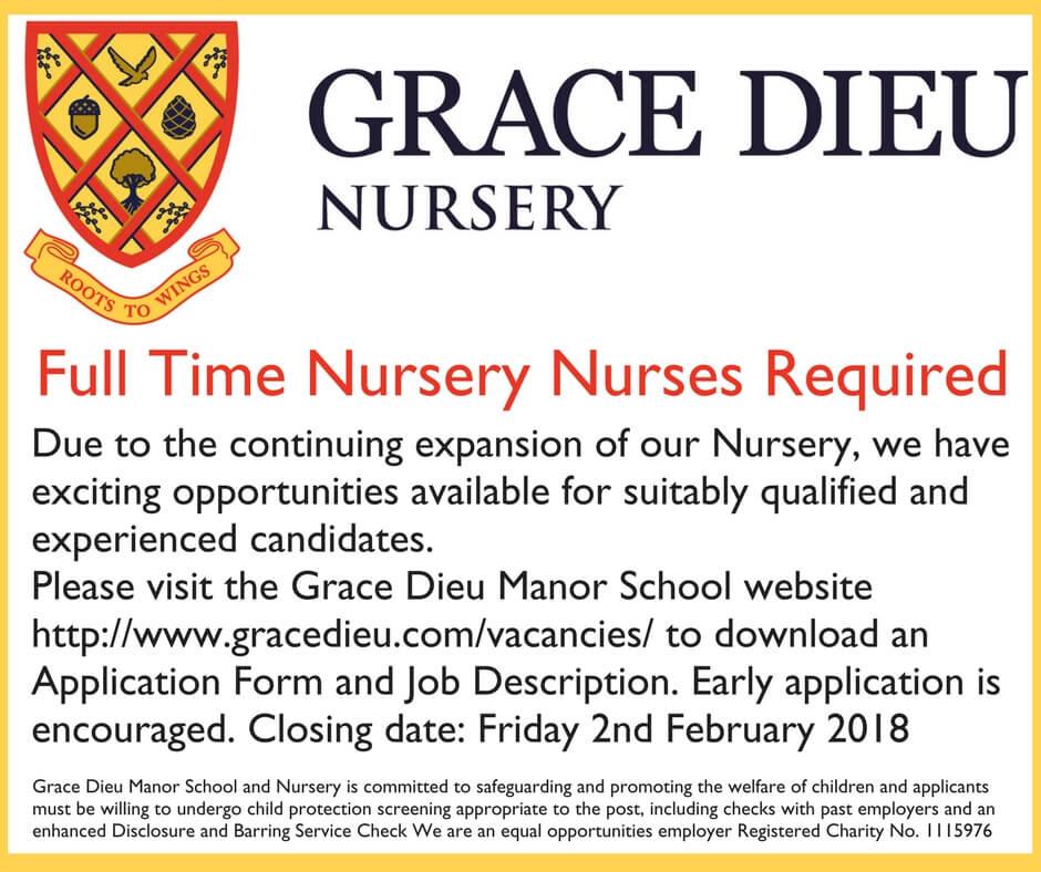 Nursery Nurse Job Advert