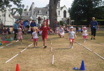 Grace Dieu nursery sports day