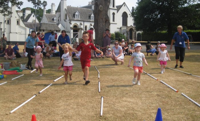 Grace Dieu nursery sports day