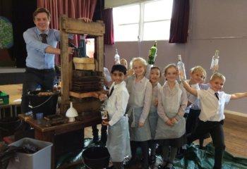 Pupils enjoy Apple Pressing at Grace Dieu Manor School