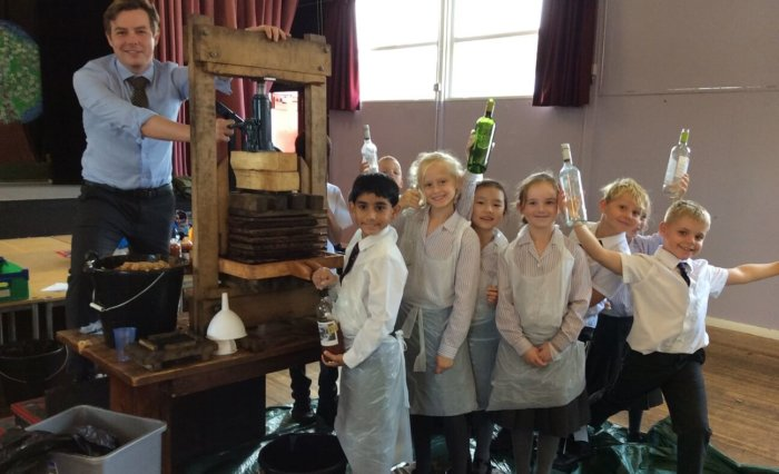 Pupils enjoy Apple Pressing at Grace Dieu Manor School