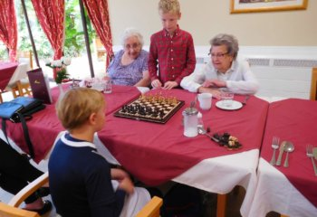 Grace Dieu Pupils visit Ashby Care Home 2