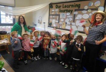 Reception pupils enjoy Italy!